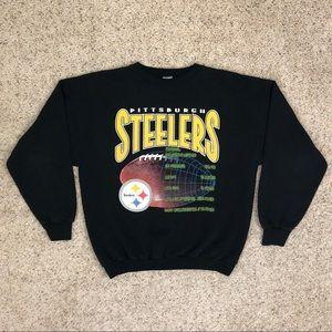 Vintage 90's Pittsburgh Steelers Logo 7 Crewneck